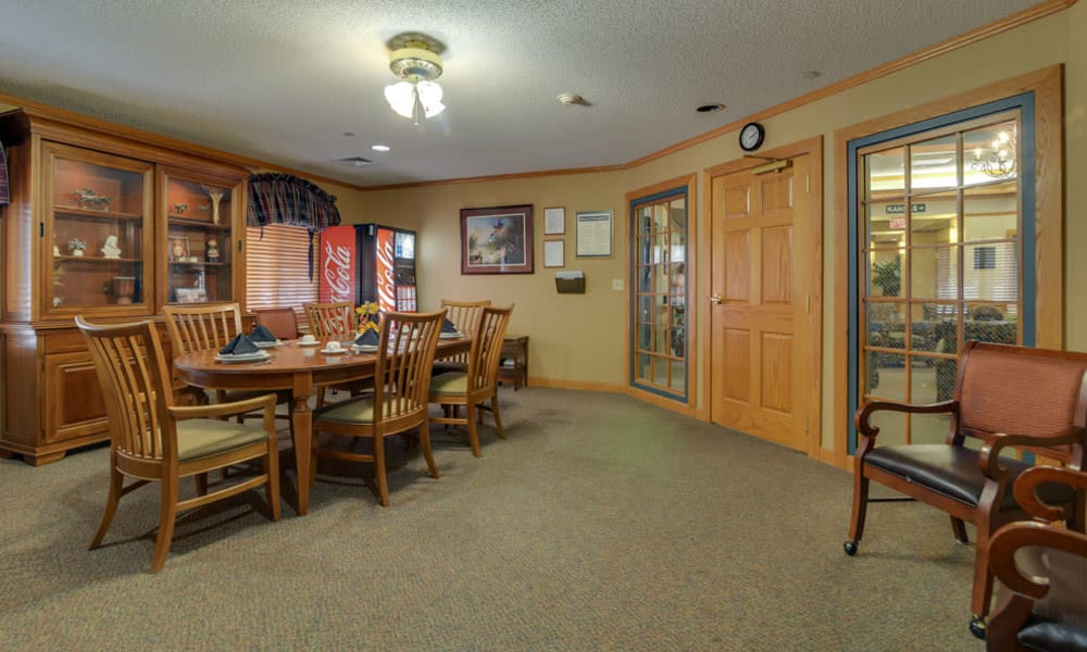 Family dining room at River Bend in Great Bend, Kansas