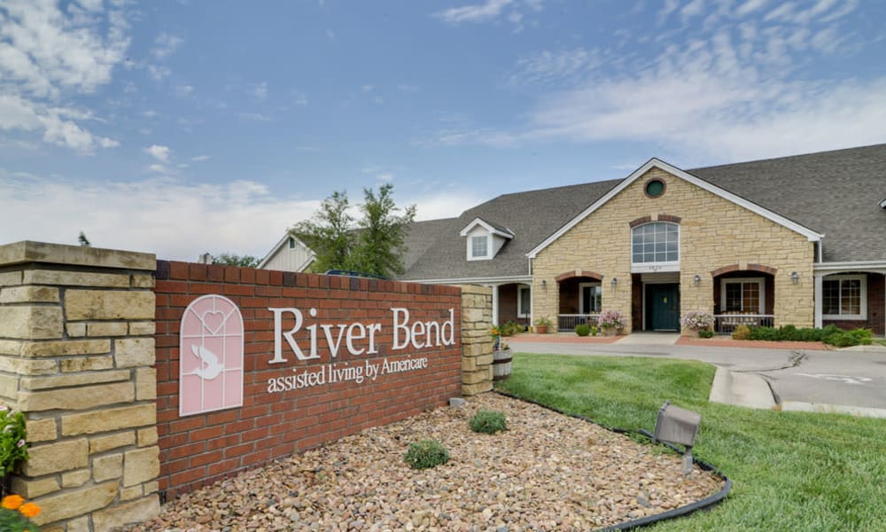 Branding and Signage outside of River Bend in Great Bend, Kansas