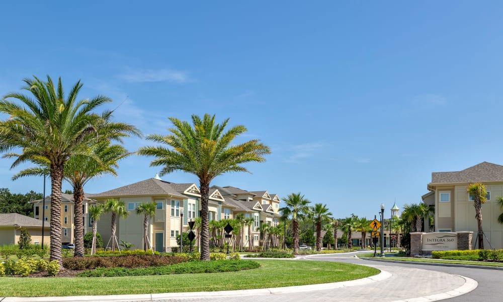 Beautiful exterior at Integra Sunrise Parc Apartments in Kissimmee, Florida