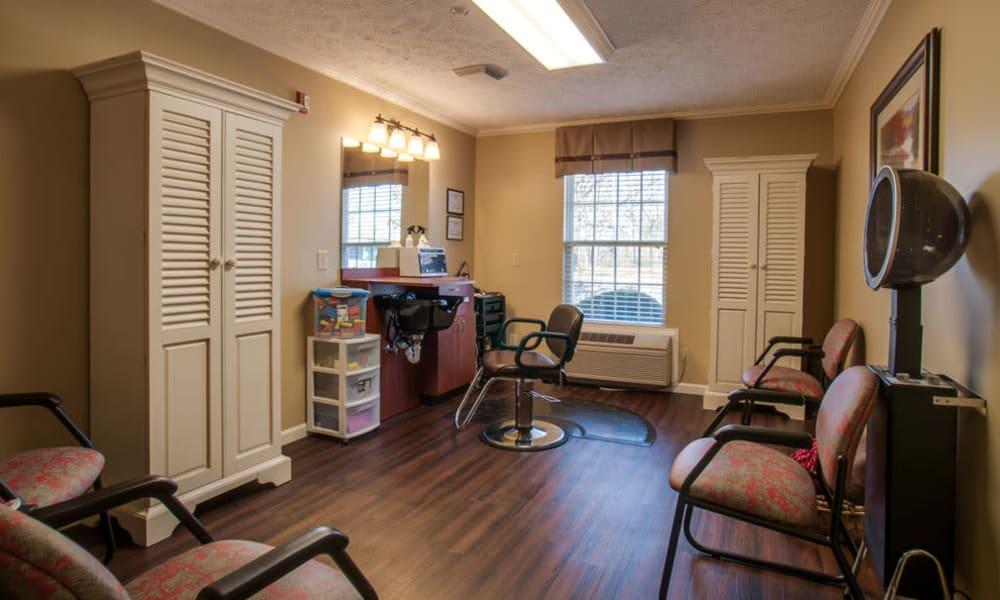 Resident hair salon at RiverWick in Savannah, Tennessee