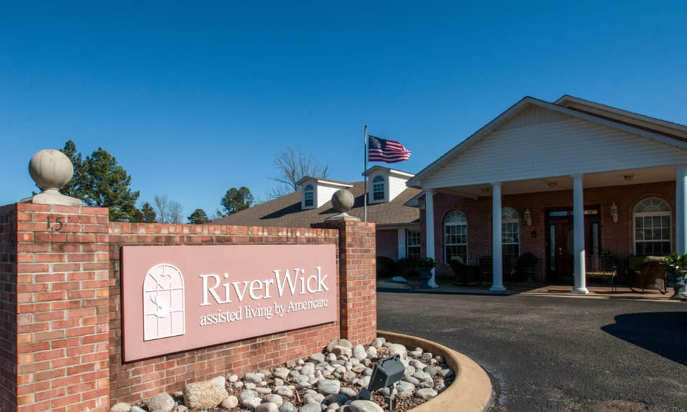 Branding and Signage outside of RiverWick in Savannah, Tennessee
