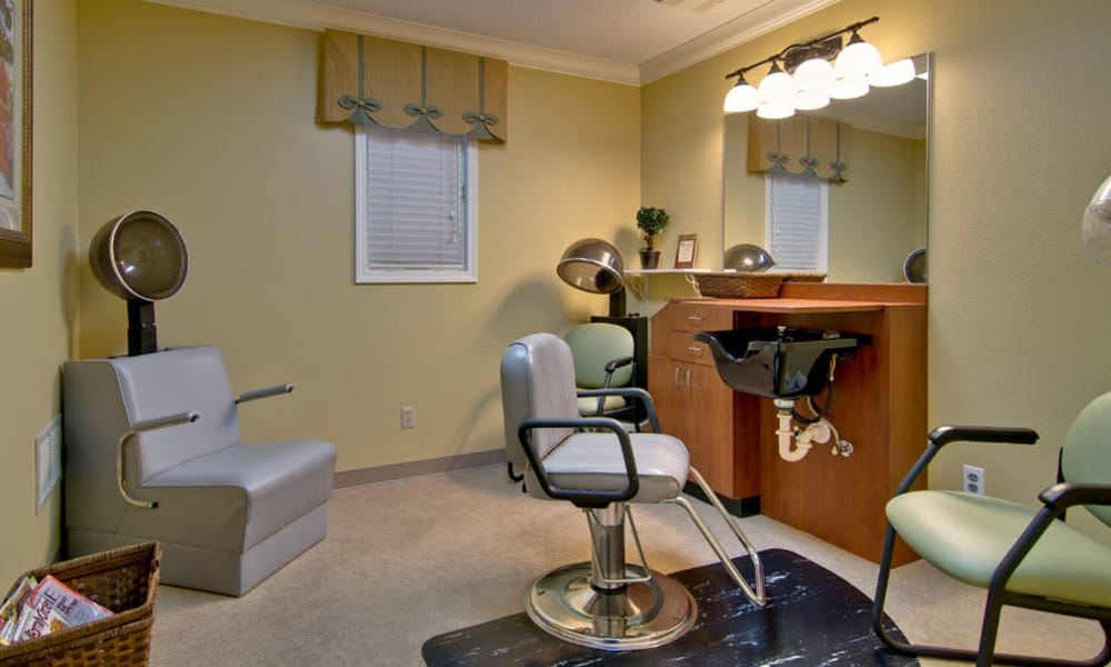Resident hair salon at River Mist in Poplar Bluff, Missouri