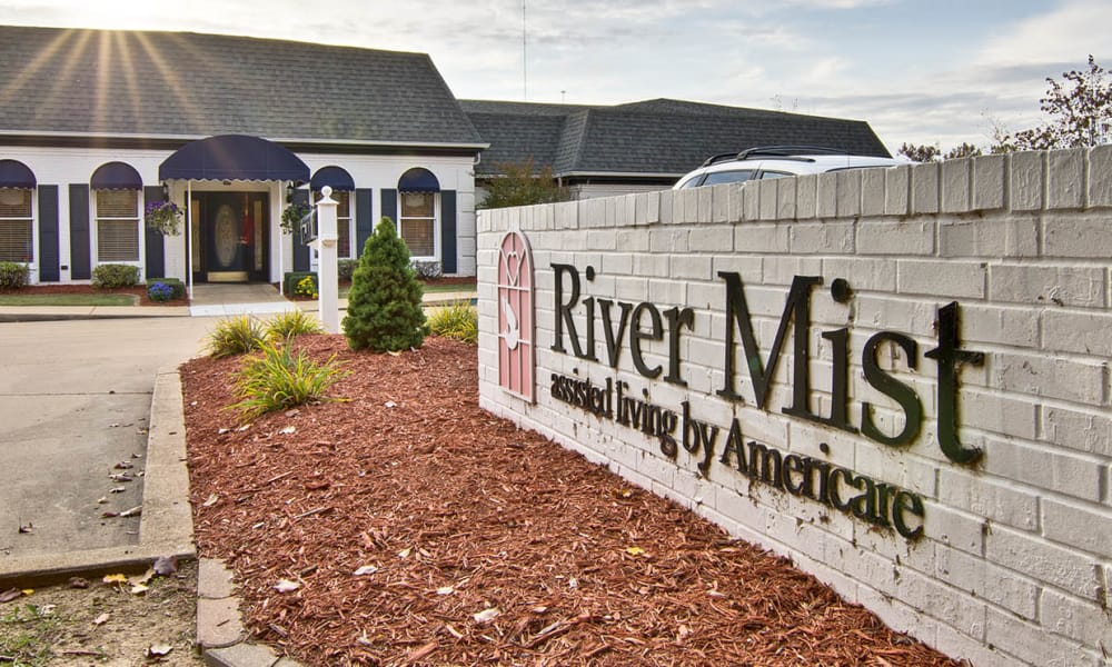 Branding and Signage outside of River Mist in Poplar Bluff, Missouri