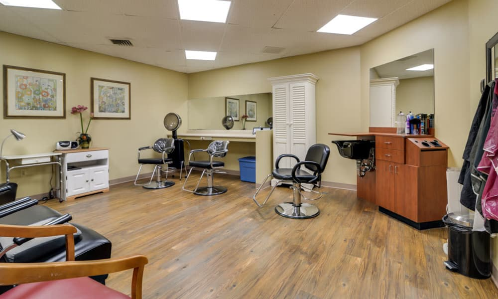 Resident hair salon at SummitView Terrace in Kansas City, Missouri