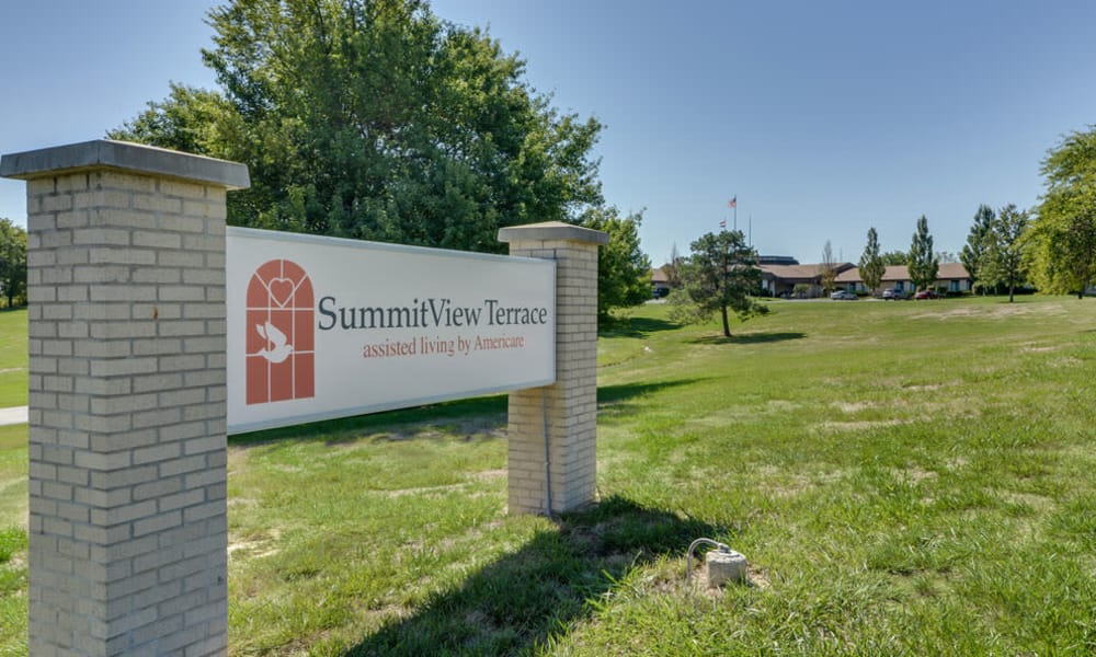 Branding and Signage outside of SummitView Terrace in Kansas City, Missouri