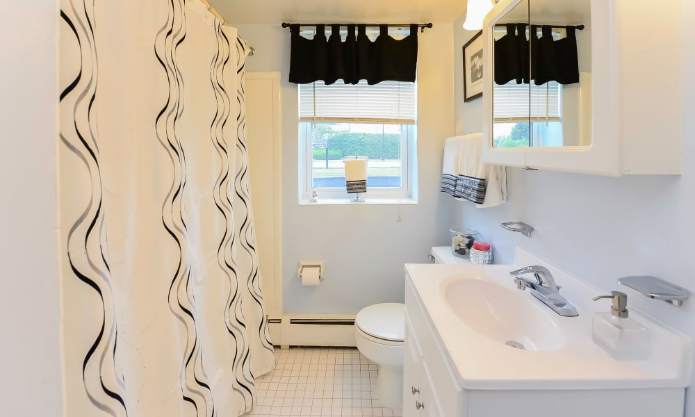 Enjoy apartments with a bathroom at Hyde Park Apartment Homes