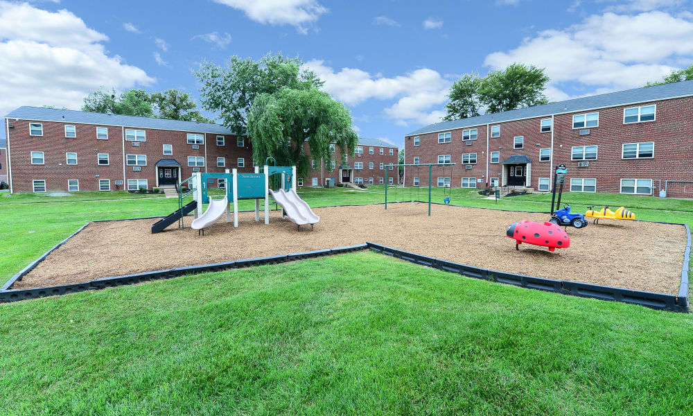 Playground at apartments in Bellmawr, New Jersey