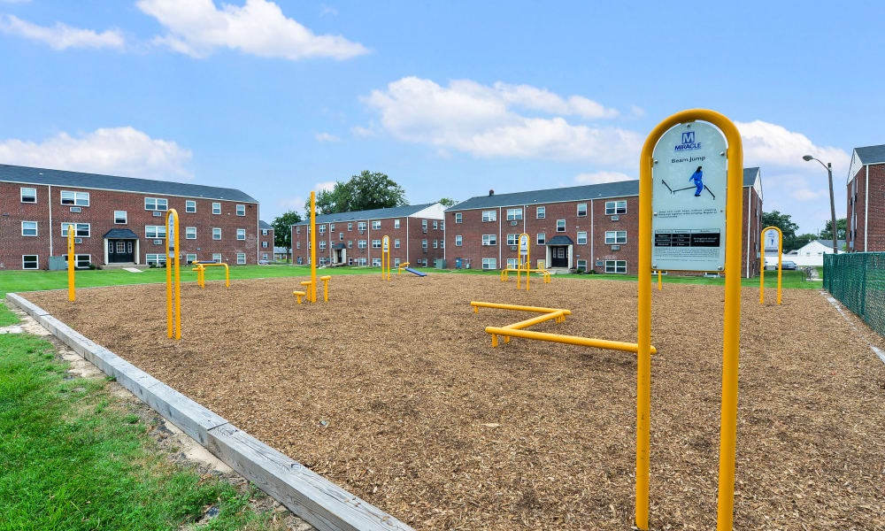 Beautiful playground at Hyde Park Apartment Homes in Bellmawr, New Jersey