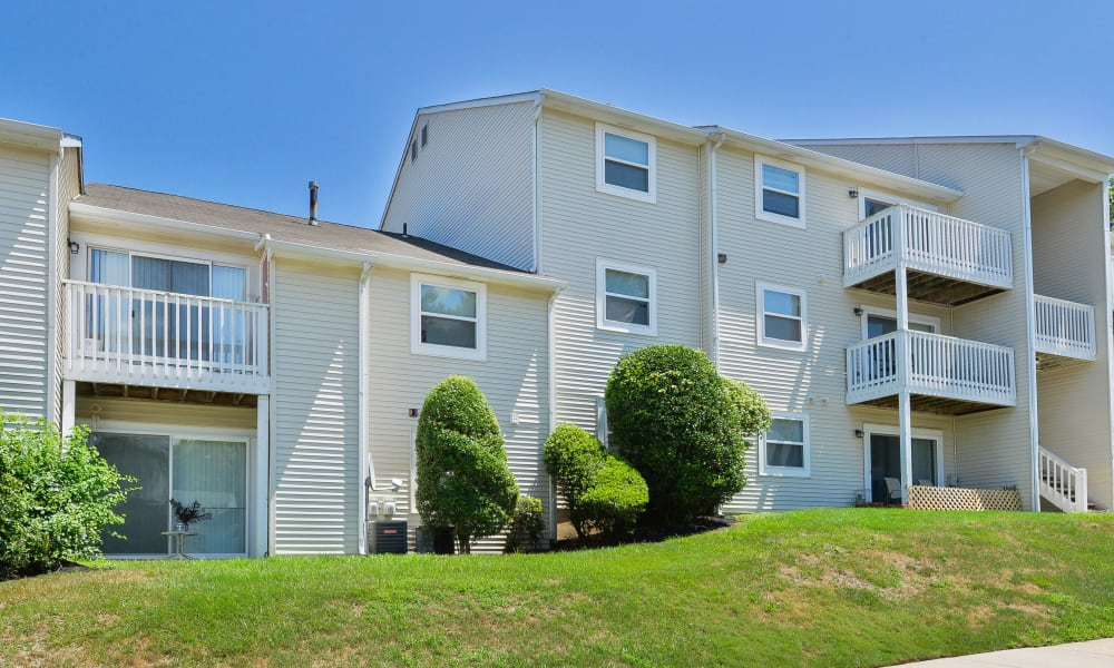 Spacious private balcony at The Landings Apartment Homes in Absecon, New Jersey