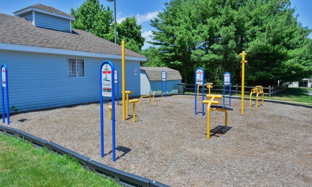 Spacious outdoor fitness area at The Landings Apartment Homes in Absecon, New Jersey