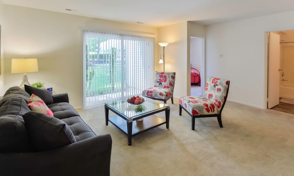 Beautiful living room at The Landings Apartment Homes in Absecon, New Jersey