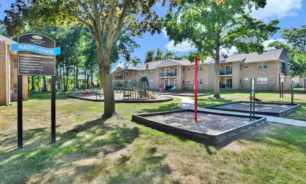 Moorestowne Woods Apartment Homes offers a spacious playground in Moorestown, New Jersey