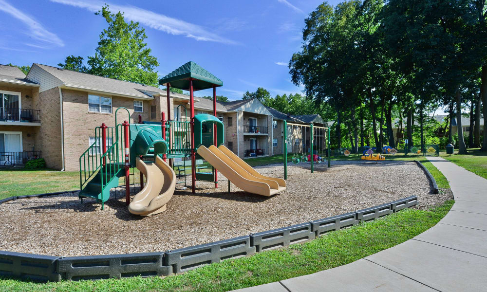 Beautiful playground at Moorestowne Woods Apartment Homes in Moorestown, New Jersey