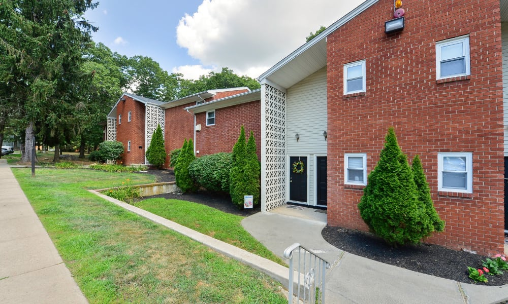 Mt. Arlington Gardens Apartment Homes offers a beautiful entryway in Mt. Arlington, New Jersey