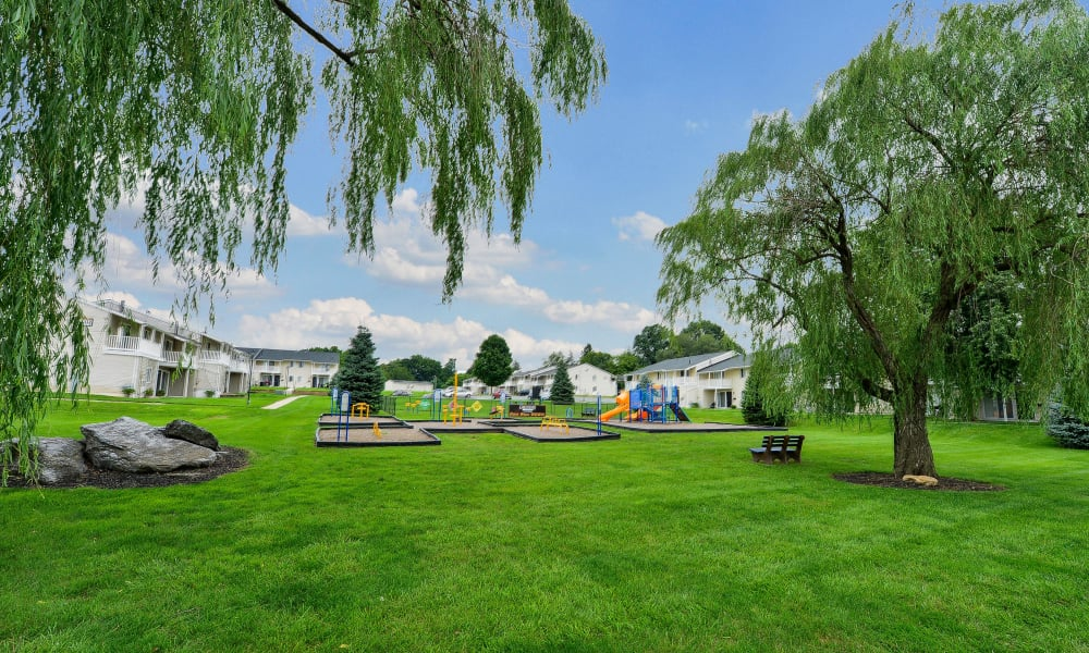 Beautiful park at Greentree Village Townhomes in Lebanon, Pennsylvania