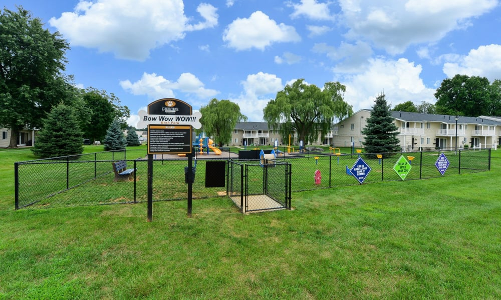 Dog park at Greentree Village Townhomes in Lebanon, Pennsylvania