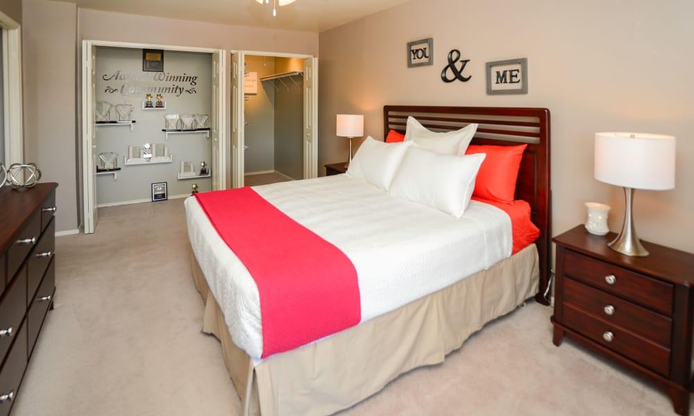 Spacious bedroom at apartments in Lebanon, Pennsylvania