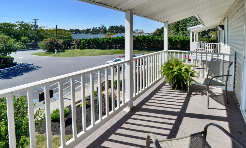 Private Balcony at Townhomes in Lebanon, Pennsylvania