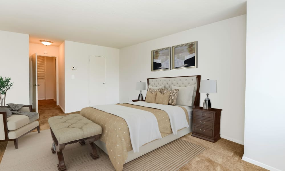 Bedroom at Towers of Windsor Park Apartment Homes in Cherry Hill, New Jersey