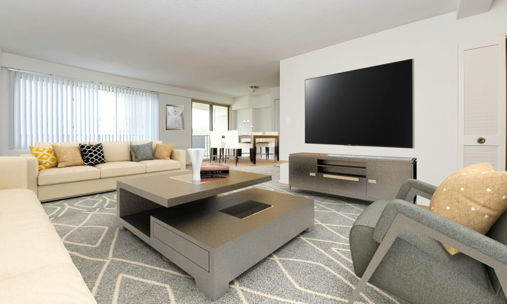 Living Room at Towers of Windsor Park Apartment Homes in Cherry Hill, New Jersey
