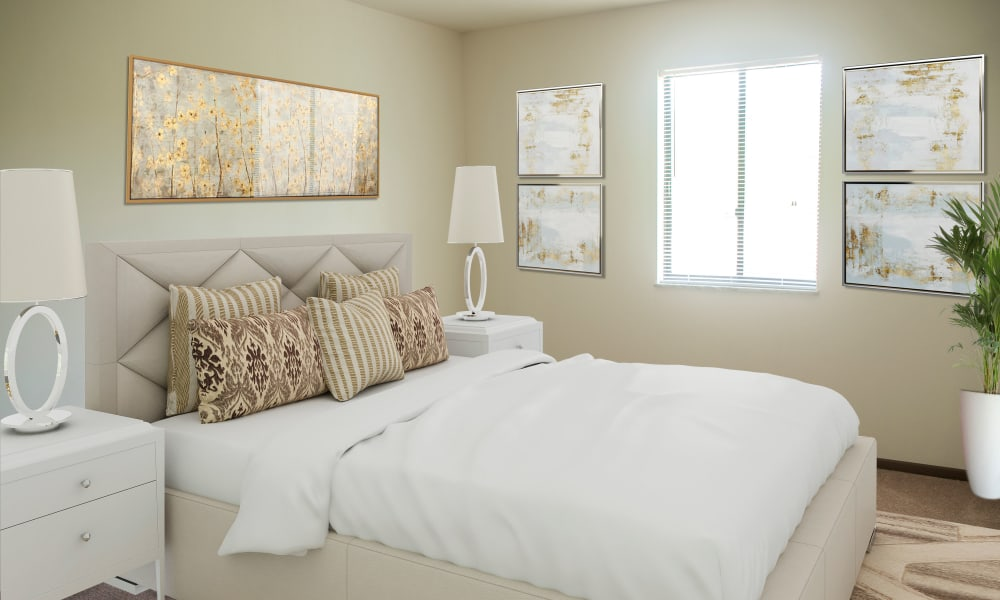 Bedroom at Squires Manor Apartment Homes in South Park, Pennsylvania