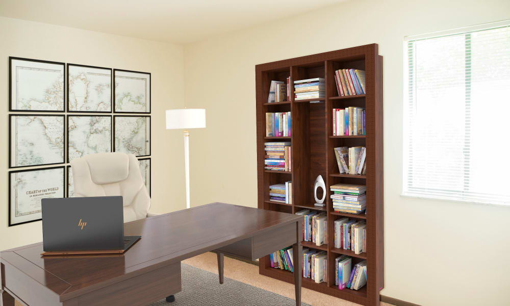 Home Office at Squires Manor Apartment Homes in South Park, Pennsylvania