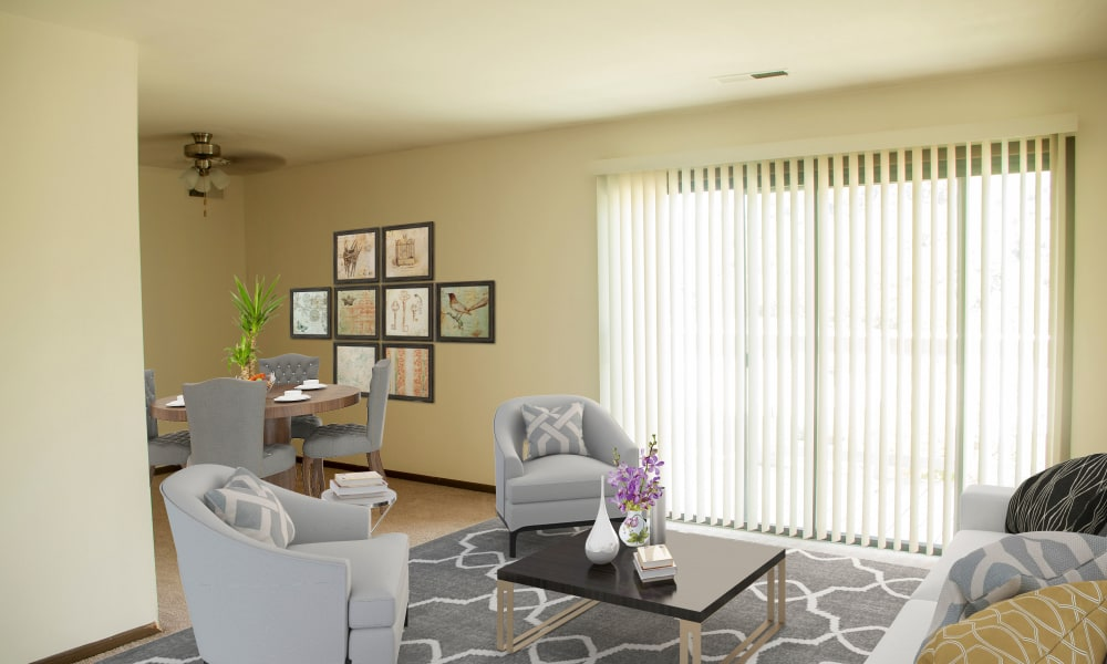 Living Room at Apartments in South Park, Pennsylvania