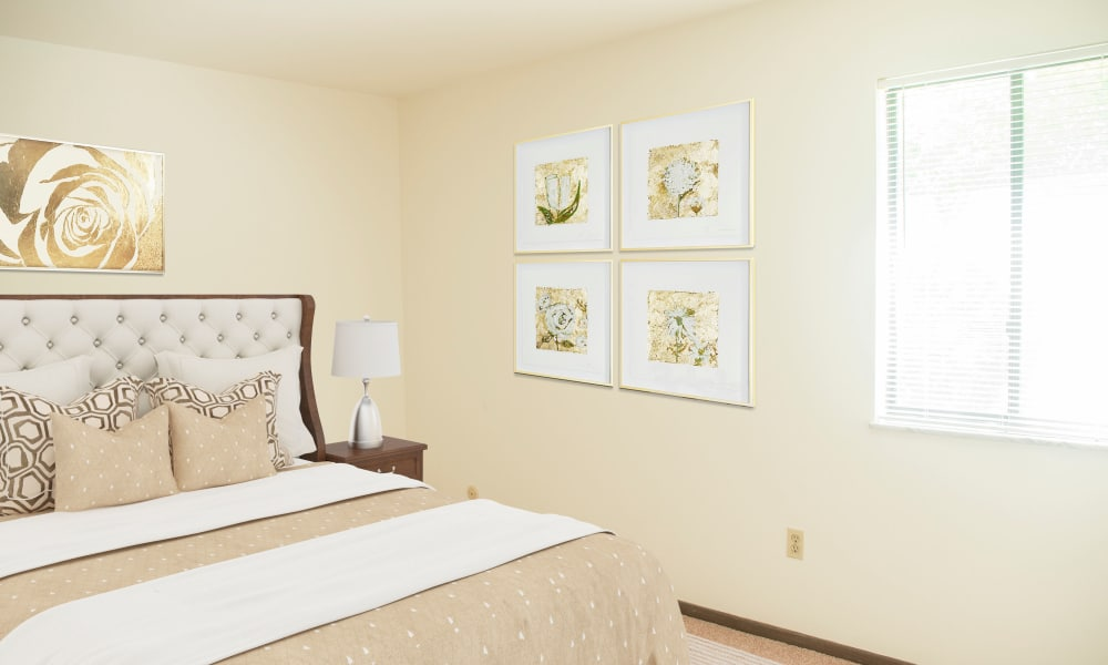 Bedroom at Apartments in South Park, Pennsylvania