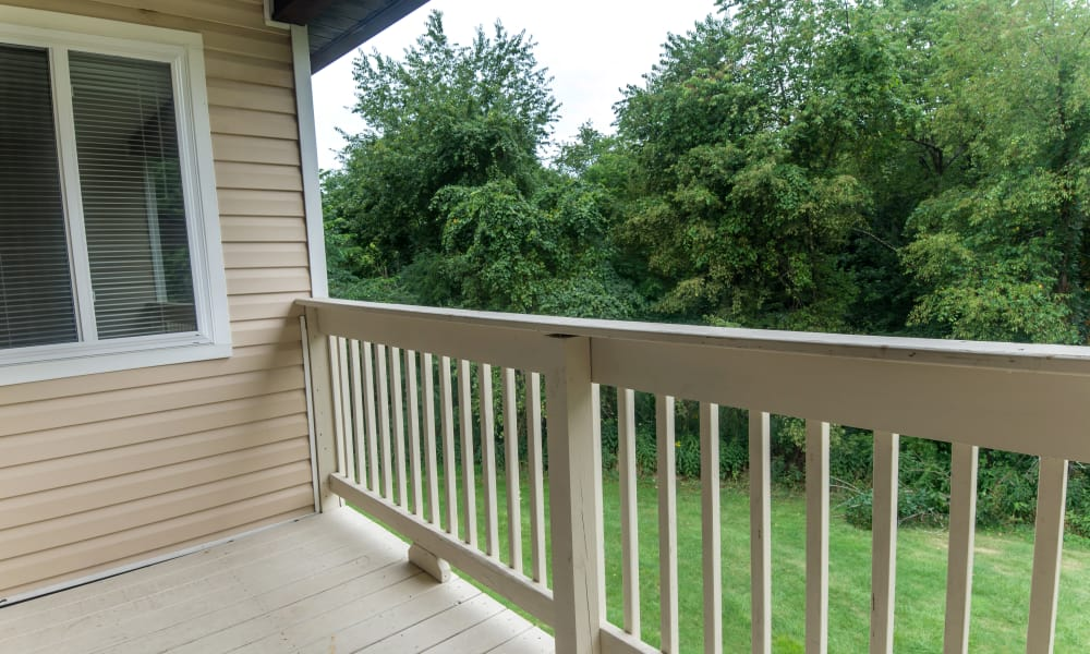 Private Balcony at Apartments in South Park, Pennsylvania