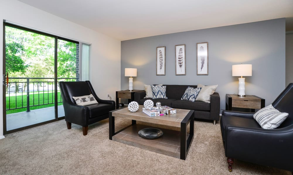 Spacious living room at Timberlake Apartment Homes in East Norriton, Pennsylvania