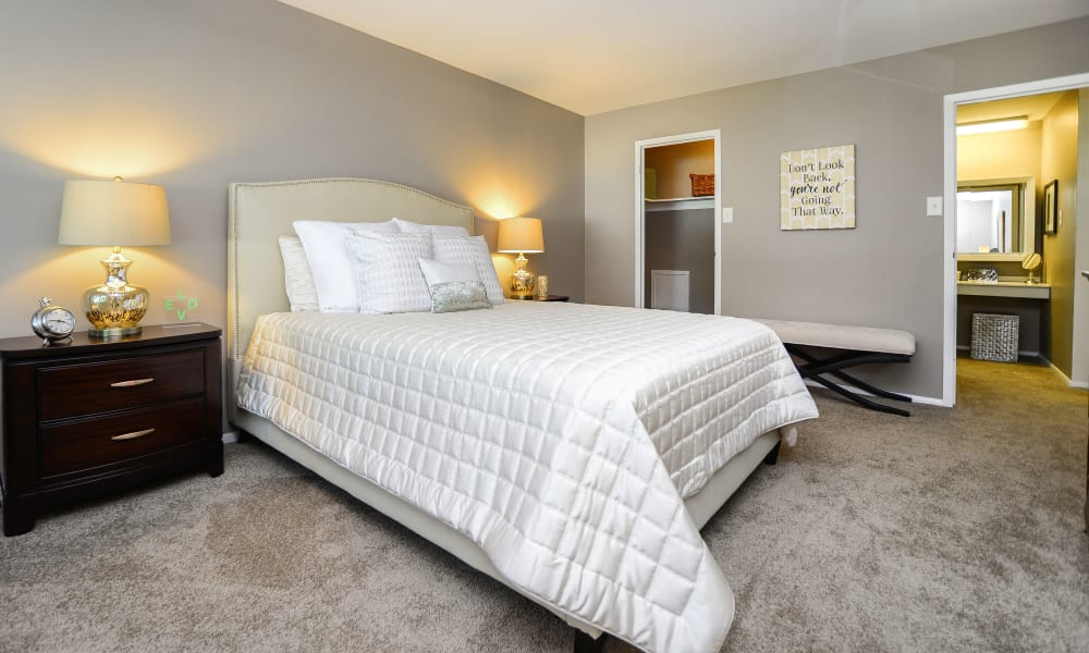 Beautiful bedroom at Timberlake Apartment Homes in East Norriton, Pennsylvania