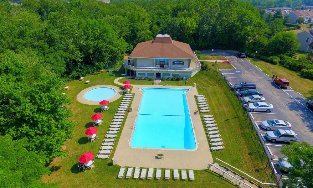 Timberlake Apartment Homes offers a beautiful swimming pool in East Norriton, Pennsylvania