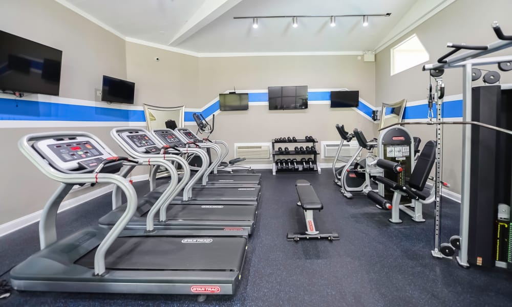 Fitness center at Timberlake Apartment Homes in East Norriton, Pennsylvania
