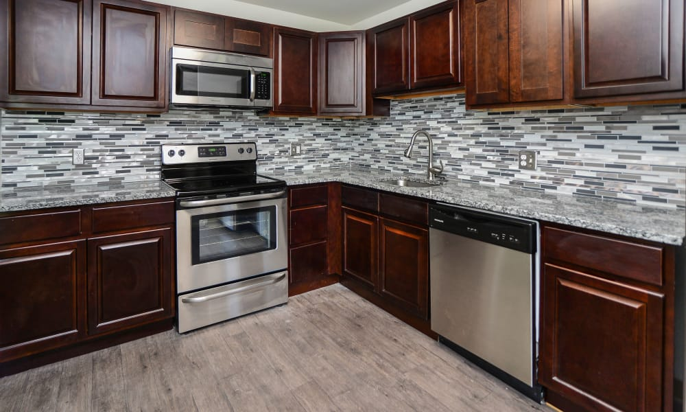 Beautiful kitchen at Timberlake Apartment Homes in East Norriton, Pennsylvania