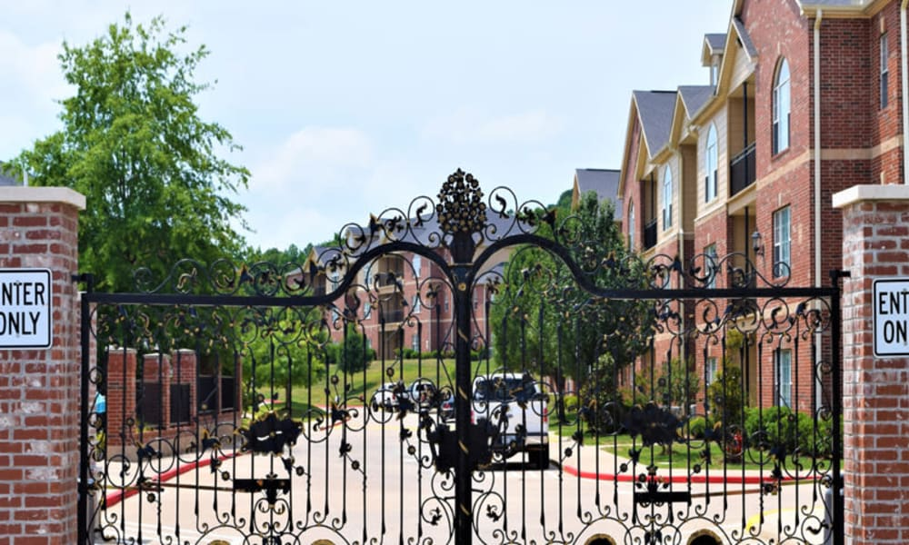 The gate in front of Lexington Park Apartment Homes in North Little Rock, Arkansas