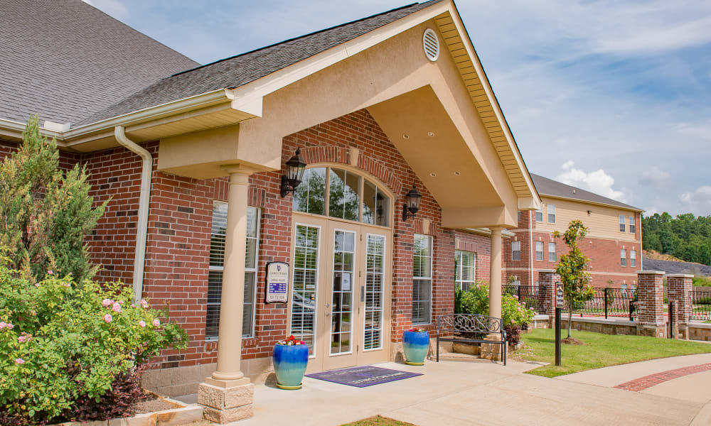 The main building at Lexington Park Apartment Homes in North Little Rock, Arkansas
