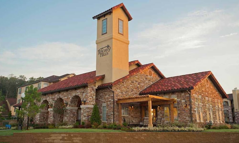 The main building at Tuscany Hills in Tulsa, Oklahoma