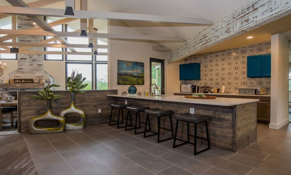 Luxurious clubhouse interior at Waters Edge in Oklahoma City, Oklahoma