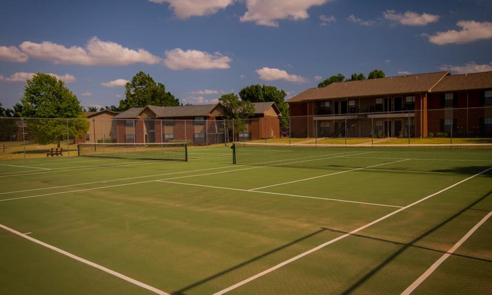Tennis courts at Waters Edge in Oklahoma City, Oklahoma