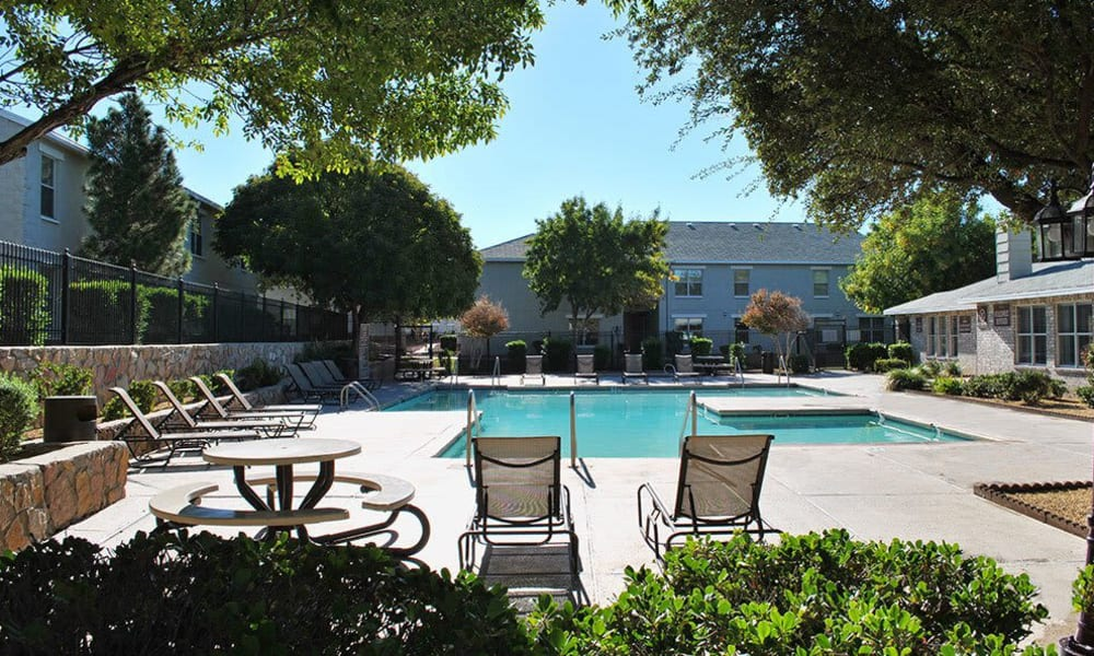 The pool at The Phoenix Apartments in El Paso, Texas