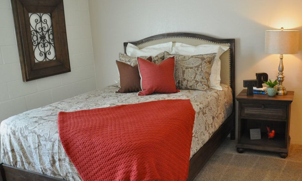 Bedroom at The Phoenix Apartments in El Paso, Texas