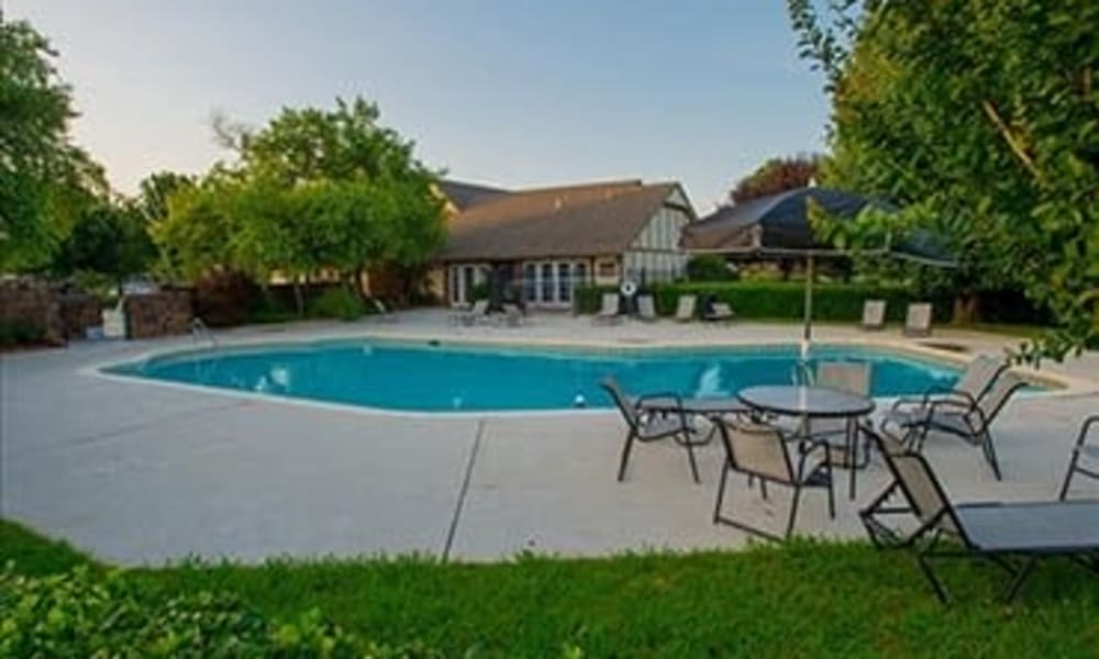 A community pool at Barrington Apartments in Tulsa, OK