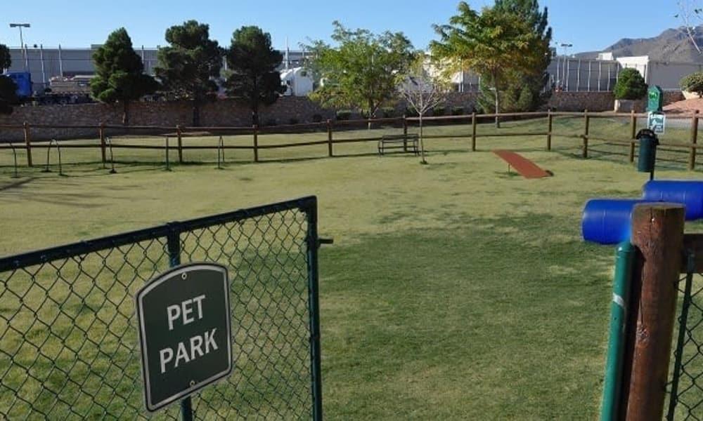 Pet park at The Patriot Apartments in El Paso, Texas