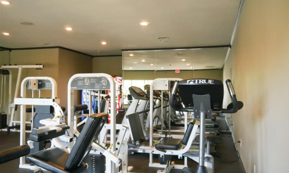 Stay healthy in the Trails of Towne Lake fitness center in Irving, Texas