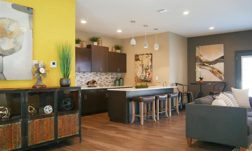Clubhouse kitchen at Trails of Towne Lake in Irving, Texas