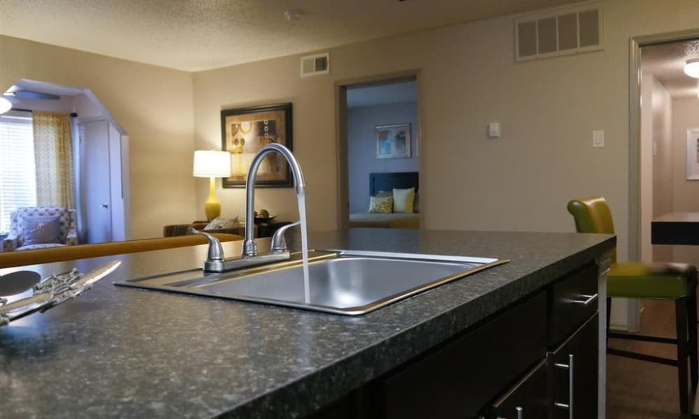 Kitchen sink at Trails of Towne Lake in Irving, Texas