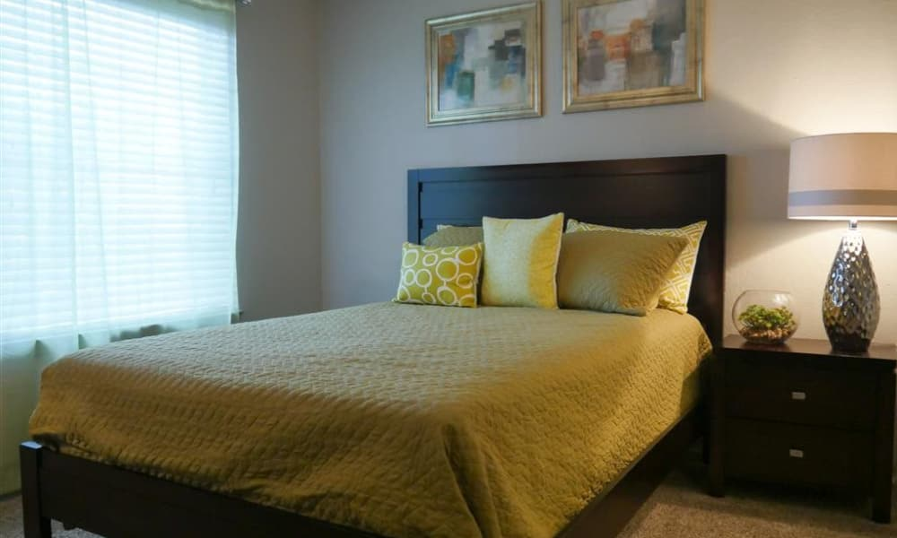 Trails of Towne Lake offers a naturally well-lit bedroom in Irving, Texas