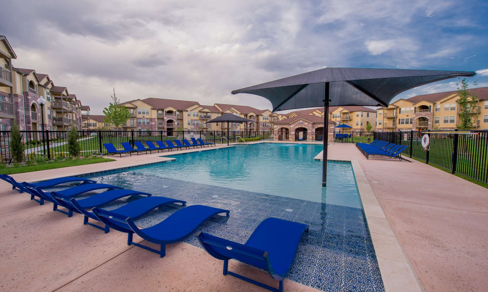 Resort style pool at Watercress Apartments in Maize, Kansas