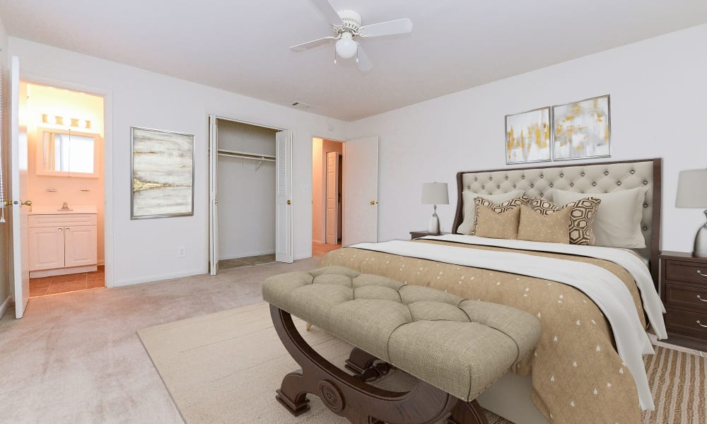 Unique bedroom at Woodcrest Apartment Homes in Dover, Delaware
