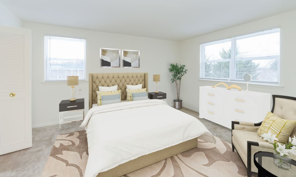Bedroom at Woodcrest Apartment Homes in Dover, Delaware